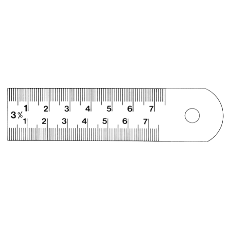 Pattern maker's shrinkage rulers with two divisions