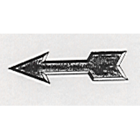 Pattern arrows of Babbitt-metal