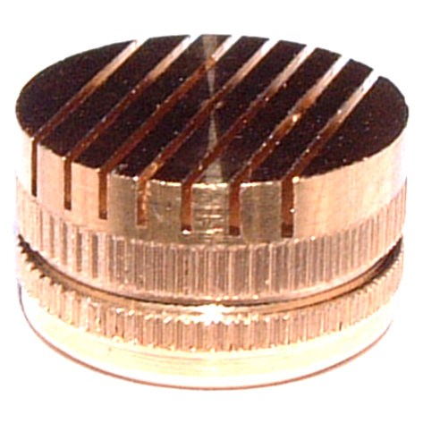 Brass slotted vents for EPS with straight slots