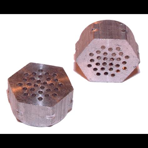 Hexagonal perforated aluminium vents for EPS