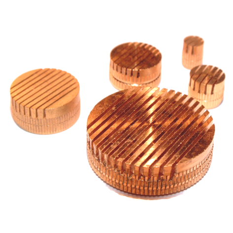 Brass slotted vents with tapered slots 0,3 mm (self-cleaning)