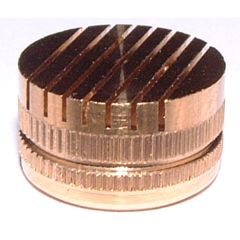 Brass slotted vents with straight slots 0,2 mm