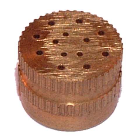 Perforated brass vents (round)